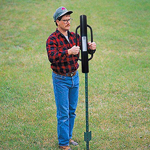 Best Post Hole Diggers 3. MTB Fence Post Driver with Handle, 12LB Black. Your Best Garden Partner!