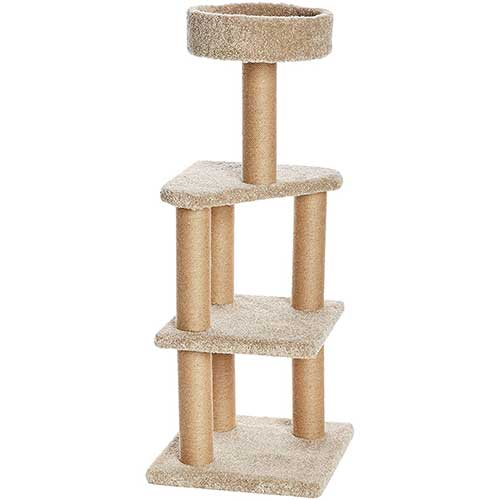 2. AmazonBasics Cat Activity Tree with Scratching Posts
