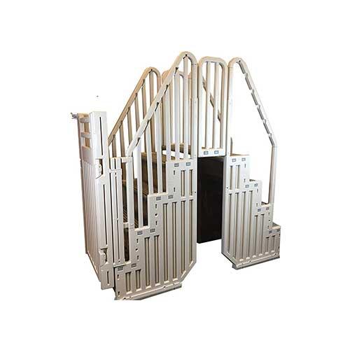 Best Above Ground Pool Steps 10. Confer Above Ground Pool Step Enclosure Kit Warm Grey - Step-ENC-X KIT