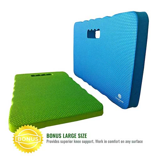 10. Growerology Thick & Large Kneeling Pads - Multi-Purpose Kneeler for Gardening, Work, Baby Bath, Bathtub, Waterproof Mat Cushion for Home, Fitness, Yoga, Gym, Cleaning, Prayer, Automotive (Pack of 2)