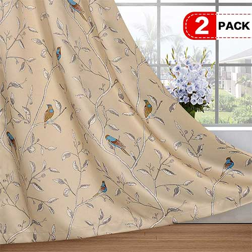9. H.VERSAILTEX Blackout Grommet Curtains for Living Room Noise Reducing Thermal Insulated Window Curtain