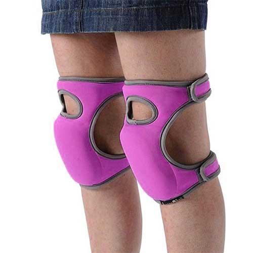 5. Toyfun Knee Pads for Gardening Cleaning, Knee Pads for Work Knee Pads for Scrubbing Floors Memory Foam Knee Pads (Purple)