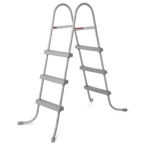 Best Above Ground Pool Steps 8. Bestway 58334E 36-Inch Steel above Ground Swimming Pool Ladder No-Slip Steps