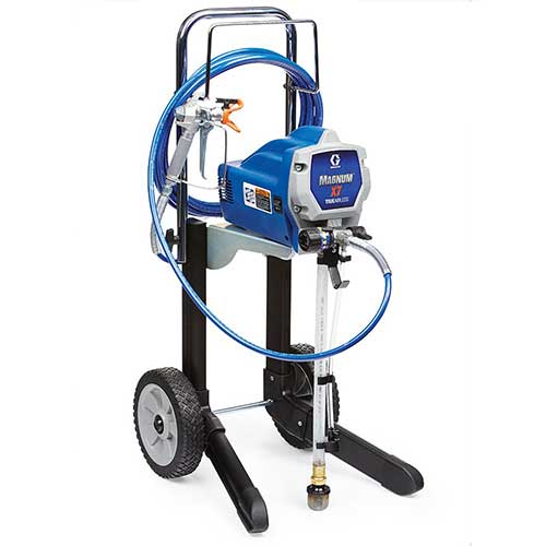 Best Airless Paint Sprayers Under 500 2. Graco Magnum 262805 X7 Cart Airless Paint Sprayer
