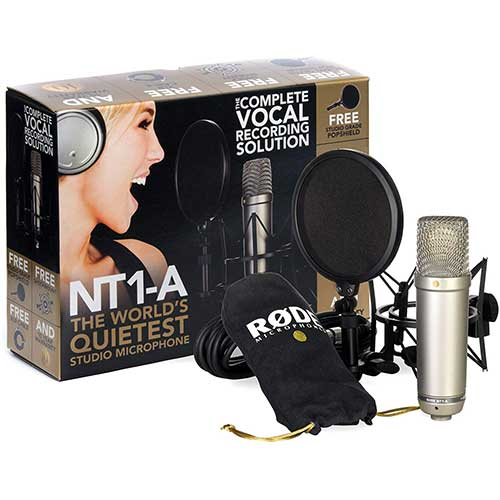 4. Rode NT1-A Anniversary Vocal Cardioid Condenser Microphone Package