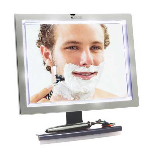 8. ToiletTree Products Deluxe LED Fogless Shower Mirror with Squeegee