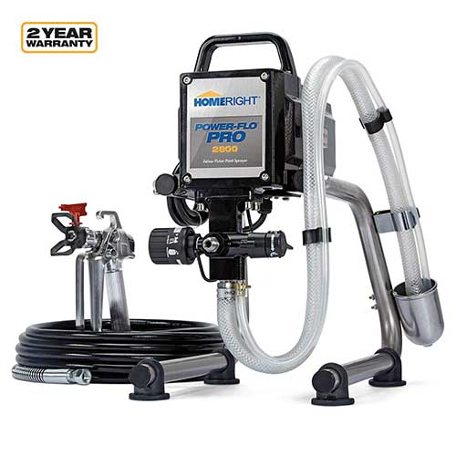 Best Airless Paint Sprayers Under 500 7. HomeRight Power Flo Pro 2800 C800879 Airless Paint Sprayer Spray Gun, Power Painting