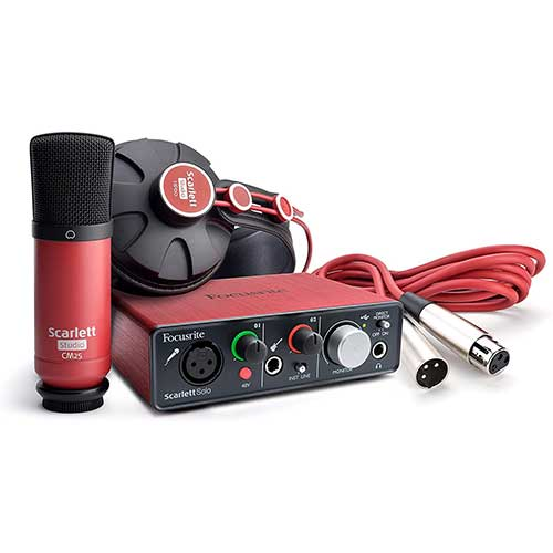 9. Focusrite Scarlett Solo Studio (1st GENERATION) USB Audio Interface and Recording Bundle