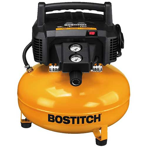 Best Oil Free Compressors 1. Bostitch BTFP02012 6 Gallon 150 PSI Oil-Free Compressor