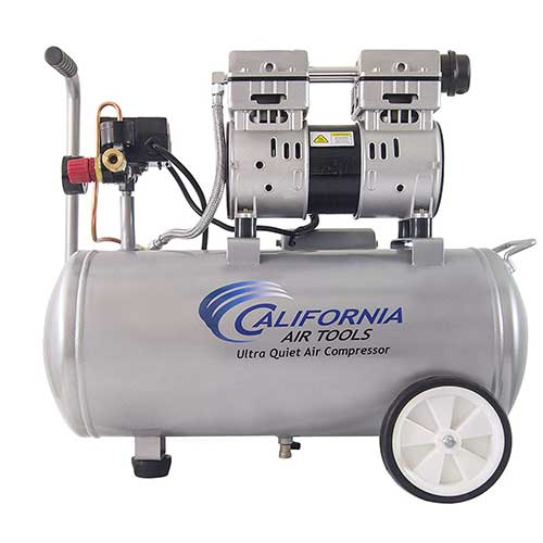Best Oil Free Compressors 3. California Air Tools 8010 Ultra Quiet & Oil-Free 1.0 hp Steel Tank Air Compressor, 8 gal, Silver