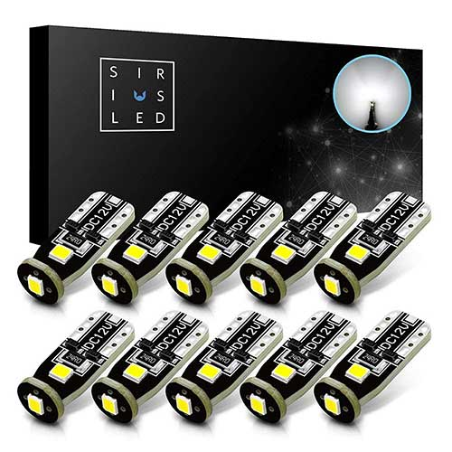 3. SiriusLED Extremely Bright 3030 Chipset LED Bulbs
