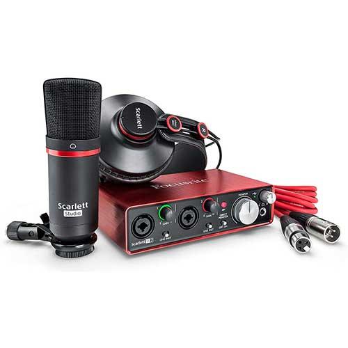 6. Focusrite Scarlett 2i2 Studio (2nd Gen) USB Audio Interface and Recording Bundle