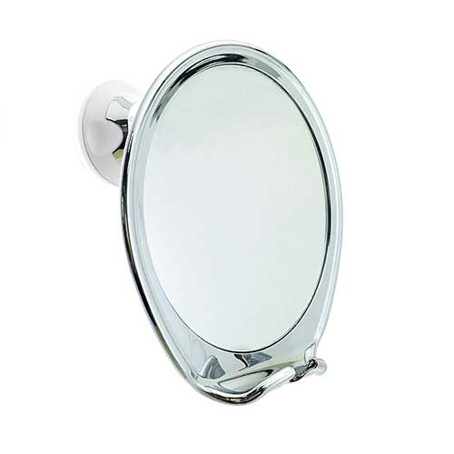 3. JiBen Fogless Shower Mirror with Power Locking Suction Cup