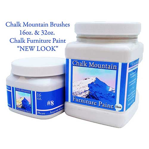 8. Chalk Mountain Brushes Quality Chalk Furniture Paint. Zero VOC and Low Odor. 51 Beachy and Earthy Colors