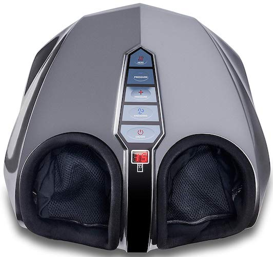 2. Miko Shiatsu Foot Massager with Deep-Kneading, Multi-Level Settings, And Switchable Heat Charcoal Grey