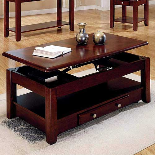 1. Lift top table Lift-top Coffee Table in Cherry Finish