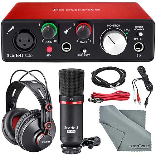 7. Focusrite Scarlett Solo Studio Kit Bundle