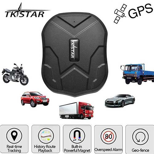 5. TKSTAR Hidden Vehicles GPS Tracker, Waterproof Real Time Vehicle GPS Tracker Anti-Theft Alarm Car Tracking Device