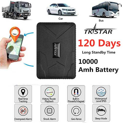 10. Tkstar GPS Tracker, Real Time Vehicles Tracking Device 10000mah Long Time Standy, Anti-Theft GPS Locator