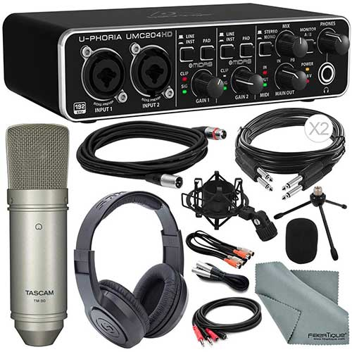 3. Behringer U-PHORIA UMC204HD USB 2.0 Audio/MIDI Interface and Platinum Bundle