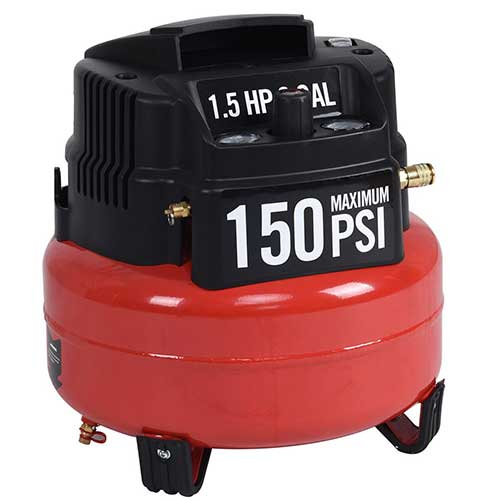 Best Oil Free Compressors 8. Goplus Oil-Free Air Pancake Compressor Portable Quiet (6 Gallon 150 PSI 1.5HP Compressor)