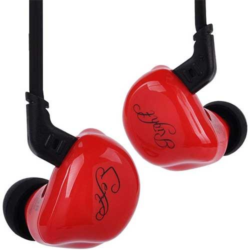 9. Kz Zsr Triple Driver In-Ear Headphones