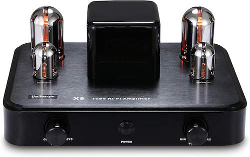 8. Uniharpa Professional Audio-Frequency Vacuum Tube Amplifier X9 110V-240V with Bluetooth AUX Input for HiFi CD Player Audio