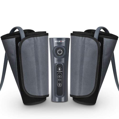 5. CINCOM Leg Massager for Circulation Air Compression Calf Wraps with 2 Modes 3 Intensities and Helpful for RLS and Edema