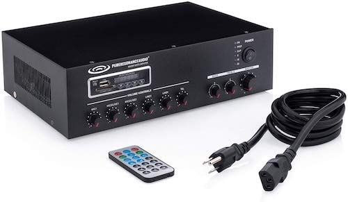 6. Pure Resonance Audio MA60BT 7-Channel Commercial Mixer Amplifier