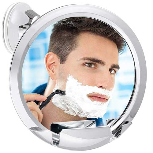 5. Asani Fogless Shower Mirror with Built-In Razor Holder