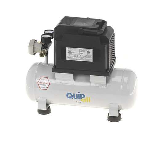 Best Oil Free Compressors 6. Quipall 2-.33 Oil Free Compressor, 1/3 HP, 2 Gallon,Steel Tank