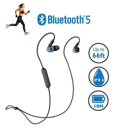 1. Miccus New Bluetooth 5 Sports Headphones, Sweatproof IPX6 Wireless Headset, High Fidelity Deep Bass, Comfortable Secure in Ear Fit