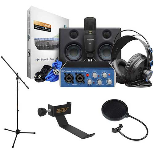 10. Rode NT1-A Complete Vocal Recording Solution with Acoustic Reflection Filter and Tripod Mic Stand Kit