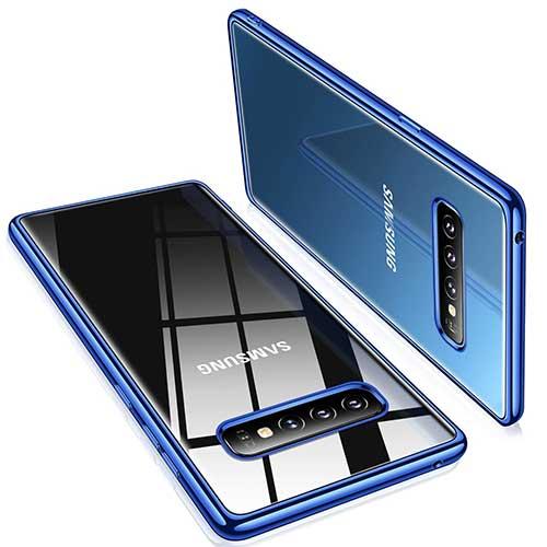 4. TORRAS Crystal Clear Galaxy S10+ Plus case 6.4 inch, Ultra-Thin Slim Fit Flashy Edge Case Soft TPU Cover