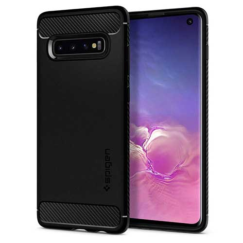 5. Spigen Rugged Armor Designed for Samsung Galaxy S10 Case