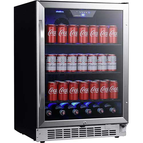 2. EdgeStar CBR1502SG 24 Inch Wide 142 Can Built-in Beverage Cooler