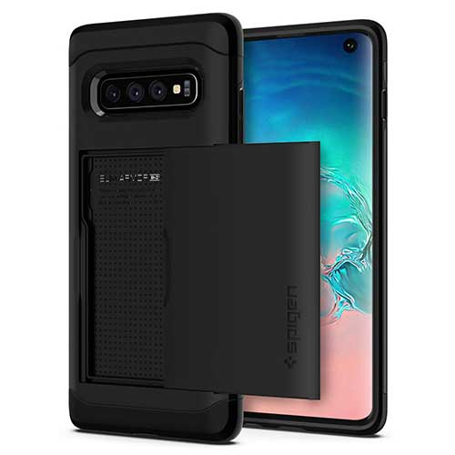 10. Spigen Slim Armor CS Designed for Samsung Galaxy S10 Case (2019) - Black