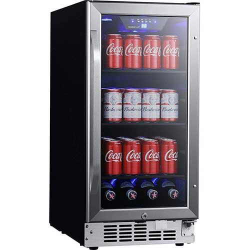 7. EdgeStar CBR902SG 15 Inch Wide 80 Can Built-in Beverage Cooler