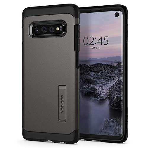 3. Spigen Tough Armor Designed for Samsung Galaxy S10 Case