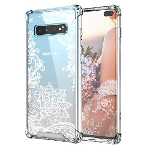 8. Cutebe Case for Galaxy S10 Plus,Shockproof Series Hard PC+ TPU Bumper Protective Case