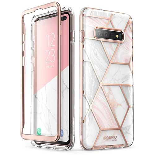 6. i-Blason Cosmo Series Case for Samsung Galaxy S10+ Plus, Stylish Glitter Protective Bumper Case