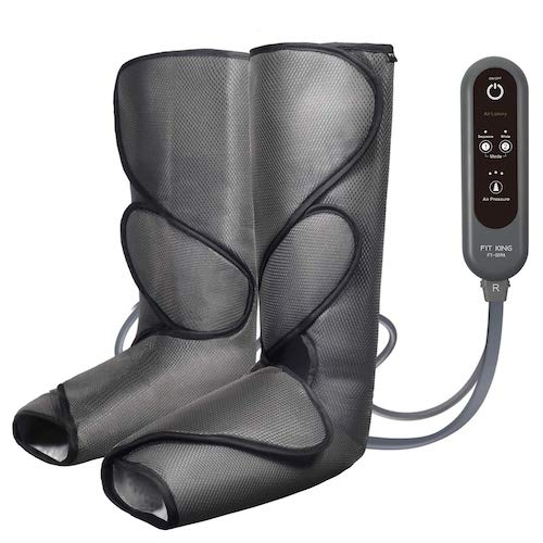 2. FIT KING Leg Air Massager for Circulation and Relaxation Foot and Calf Massage with Handheld Controller 3 Intensities 2 Modes (with 2 Extensions)