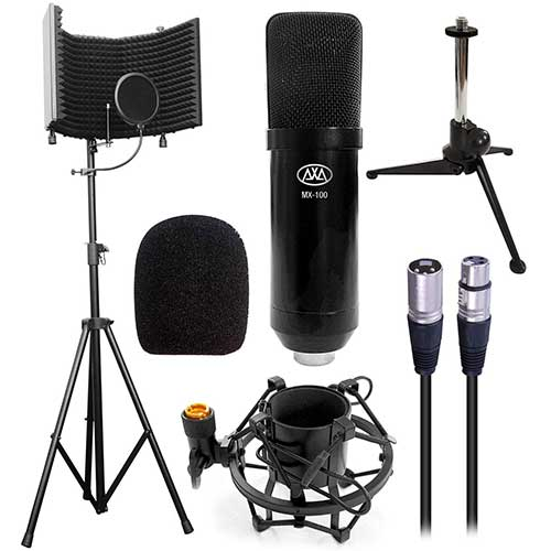8. Axa AxcessAbles SF-101Kit Black Recording Studio Isolation Shield Stand