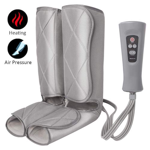 7. Air Compression Leg Massager for Foot and Calf Massage with Optional Heat 3 Modes 4 Intensities for Feet, Legs, Calves Muscle Relaxation by TRIDUCNA