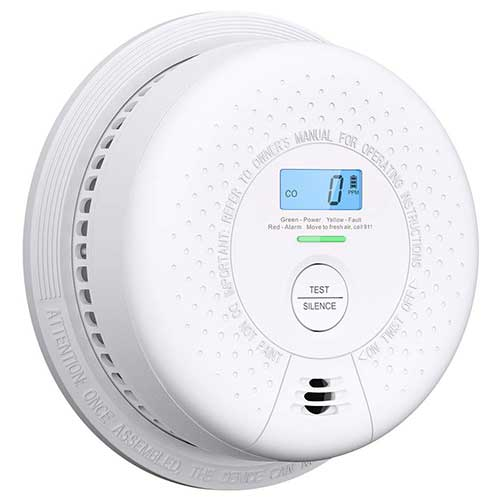 Best Smoke Detectors for Kitchen 8. Combination Smoke Detector and Carbon Monoxide Detector Alarm with Display | 10 Year Sealed Battery Operated by X-Sense