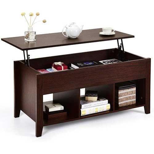 6. Tangkula Lift Top Coffee Table