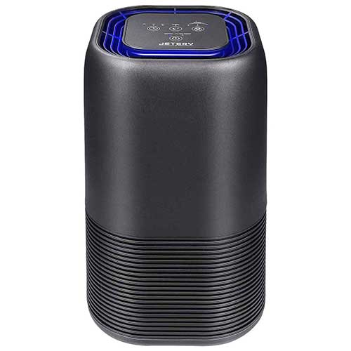 Best Air Purifier for Allergies and Pets 9. JETERY HEPA Filter Air Purifiers with Smart Auto-Off Timer, Sleep Mode, for Home, Bedroom and Office