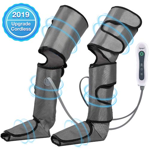 10. Leg Massager for Circulation, Air Compression Foot Massager for Thighs, Calf, Legs and Feet, Compression Boot Wraps for Restless Leg, Muscle Pain, Lymphedema, Edema, for Home Office Travel use by Aquapro