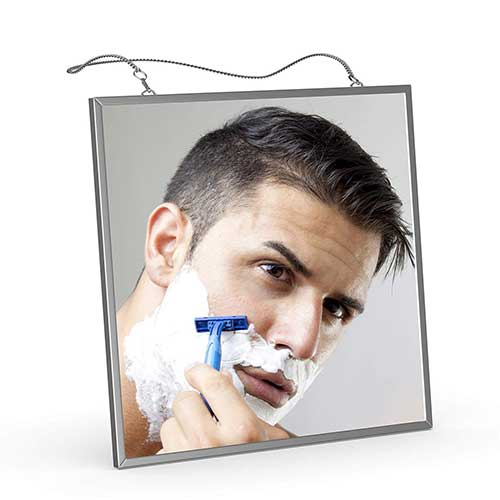 7. Fog Free Shower Mirror for Shaving, Liootech Anti-Fog Bathroom Fogless Shower Mirror