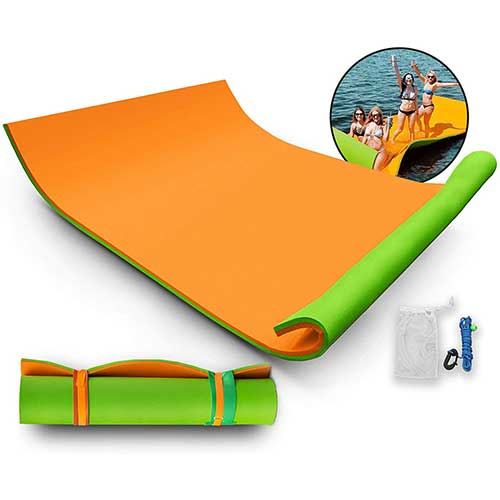 7. POpSport Lily Pad Float Foam Floating Island Water Mat.